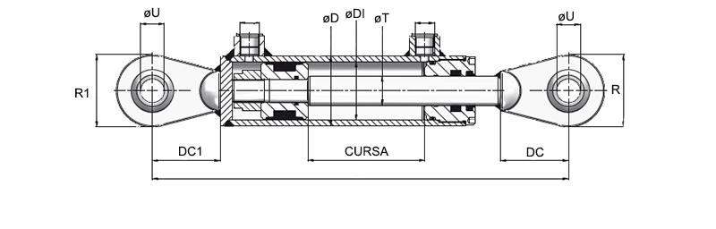 Cilindri hidraulici tip CS